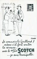 """Buvard """" SCOTCH """" Je Connais Le Gaillard ! Même S'il Fait Sauter La Serrure .... - Papeterie"""