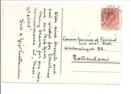 Alphonso XIII Medallon. 10ct Estafeta>Consul Finland Rotterdam Hollande.CPA Lisbôa - 1889-1931 Reino: Alfonso XIII
