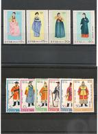 CORÉE DU NORD Costume National Années 1978/79 N°Y/T : 1458/60**-1538/42** Et P.A. 2** - Corée Du Nord
