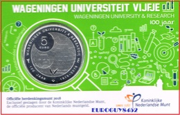 NEDERLAND - COINCARD 5 € 2018 UNC - 100 JAAR UNIVERSITEIT WAGENINGEN - Pays-Bas