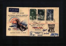 Australian Antarctic Terrritory 1959 Interesting Airmail Registered Cover - FDC