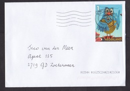 Netherlands: Cover, 2018, 1 Charity Stamp, Owl, Bird, Puppet, Toy, Children TV Personality (minor Damage) - Lettres & Documents