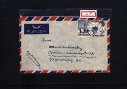 Australian Antarctic Terrritory Interesting Airmail Cover - FDC
