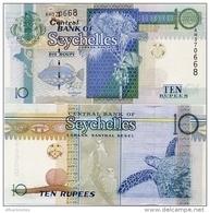 SEYCHELLES       10 Rupees       P-36[c]       2013       UNC  [ Sign. Abel] - Seychelles
