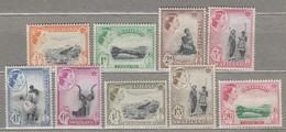 SWAZILAND 1956 Mi 55-63 SG 53-61 MLH(*)  #23506 - Swaziland (...-1967)