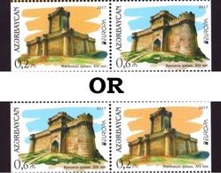 Azerbaijan 2017 Europa CEPT. CASTLES Set Of 2 Stamps - Azerbeidzjan