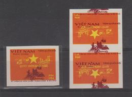 VIETNAM   #ERROR  PRINTED  REVERSE   + 1 Normal  Military Stamps  **MNH - Vietnam