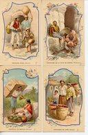 143. BAINS-LES-BAINS. LOT DE 4 CPA PUBLICITE ILLUSTRATEUR SOURCE ST. COLOMBAN MALAISIE MEXIQUE BOLIVIE HINDOUSTAN - Werbepostkarten