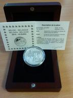 PIECE SOUS CAPSULE - 10 EUROS ARGENT BELGIQUE - BICENTENAIRE BATAILLE WATERLOO - Belgique