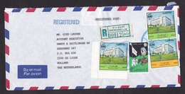 Kuwait: Registered Airmail Cover To Netherlands, 1993, 4 Stamps, Olympics, Justice, R-label Shuwaikh-B (traces Of Use) - Koeweit