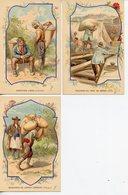 140. BAINS-LES-BAINS. LOT DE 3 CPA PUBLICITE ILLUSTRATEUR SOURCE ST. COLOMBAN ITALIE ARMENIE ESPAGNE - Werbepostkarten