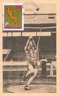 D35666 CARTE MAXIMUM CARD 1966 POLAND - ATHLETICS HAMMER THROW CP ORIGINAL - Athletics