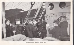 AN71 Royal Navy Postcard - Music On The Shelter Deck - Warships