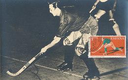 D35668 CARTE MAXIMUM CARD 1961 SPAIN - ROLLER HOCKEY CP PHOTOCARD - Hockey (Field)