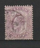 MiNr. 134  Sri Lanka / 1903/1905. Freimarken: König Edward VII. In Verschiedenen Zierrahmen. - Territoire Britannique De L'Océan Indien