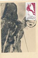 D35669 CARTE MAXIMUM CARD 1961 ROMANIA - MOUNTAIN CLIMBING CP ORIGINAL - Climbing