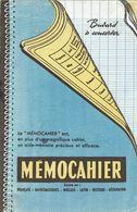 """BUVARD """" MEMOCAHIER """" Papeterie. - Papeterie"""