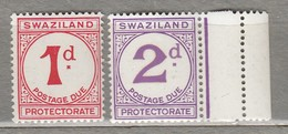 SWAZILAND 1933-1957 DUE Mi 1-2 SG D1-D2 MNH(**)  #23508 - Swaziland (...-1967)