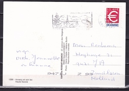 France 25-7-1999 Early Double Currency FFR 3,00 / € 0,46 Stamp On Postcard From Annecy - Postzegels