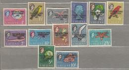 TRISTAN DA CUNHA Overprinted On St. Helena 1963 Mi 55-67 SG 55-67 MH(*)  #23509 - Tristan Da Cunha