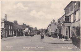 AQ94 The High Street, Odiham - Hotel, Vintage Cars, RAC Sign, Tuck Postcard - England
