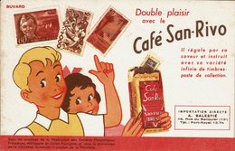 """BUVARD """" CAFE SAN-RIVO """" Il Régale Par Sa Saveur Et ...... - Papeterie"""