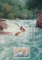 D35673 CARTE MAXIMUM CARD 1969 FRANCE - CANOEING KAYAK WORLD CHAMPIONSHIP CP ORIGINAL - Canoe