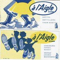 """2 BUVARDS """" A L'AIGLE """" Bottes, Botillons, Chaussurs, Tennis ...etc .... - Papeterie"""