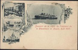 CPA Carte Postale Précurseur Souvenir De La Visite Du Président De La République En Russie Août 1897 - Greetings From...