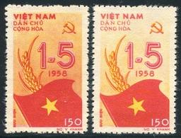 NORD VIETNAM 1958  YT N° 138 + Erreur De Couleur (*)  Mi# 73/73F MNG - Vietnam