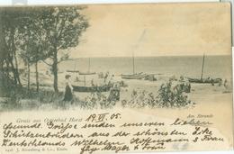 Niechorze 1905; Gruss Aus Ostseebad Horst. Am Strande - Gelaufen. (J. Rosenberg & Co. - Koszalin) - Poland