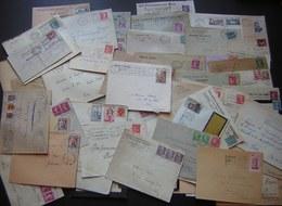 France, Lot De 72 Lettres, Timbres Variés, En Tête Etc... Période 1921 1960 Voir Les Photos De Détail ! - Postmark Collection (Covers)