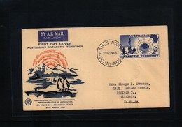 Australian Antarctic Terrritory 1957 Interesting FDC - FDC