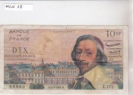 10 NF, N°88663, M 2-2-1961.M, Z 172 - 1959-1966 Nouveaux Francs