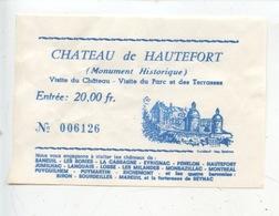Ticket : Château De Hautefort Visite Du Château Du Parc Et Des Terrasses - Tickets D'entrée