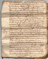 Acte Inventaire Vente Héritiers Cachet Généralité D'Alençon Vicomté De Briouze Bernier Robert Collé 1771 Incomplet 20 Pa - Manuscritos