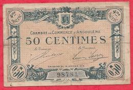 50 Centimes Chambre De Commerce D'Angoulème Du 15/01/1915  Dans L 'état - Chambre De Commerce