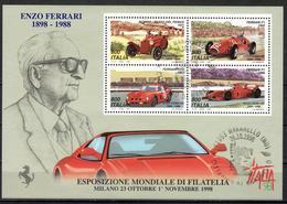 I+ Italien 1998 Mi Bl. 17 - 2598-2601 Ferrari - 1946-.. République