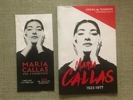 MARIA CALLAS PROGRAMMES EXPOSITIONS/ EXHIBITION  VERONA ET TENERIFE 2016-17 - Livres, BD, Revues