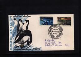 Australian Antarctic Terrritory 1971 Antarctic Treaty FDC - Australian Antarctic Territory (AAT)