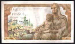 France 1000 Francs Demeter 1943 1.000 Francia - 1871-1952 Antichi Franchi Circolanti Nel XX Secolo