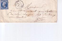 Pli De Poitiers  Pour  Fontenay Le Comte   1861 - Marcophilie (Lettres)