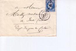 Pli De Cambrai  Pour  Inchy   1867 - Marcophilie (Lettres)