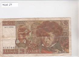 10 Francs, N° 858769, B-1-2-1976.B, Z 290 - 1959-1966 Francos Nuevos
