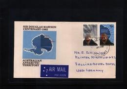 Australian Antarctic Terrritory 1982 Interesting Airmail Cover Sir Douglas Mawson - Australian Antarctic Territory (AAT)