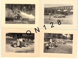 AUTOMOBILE VOITURE RENAULT 4CV 1956 - 4 PHOTOS 10,5x8 Cms - Automobiles