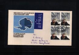 Australian Antarctic Terrritory 1982 Macquarie Island  Interesting Airmail Cover FDCs Sir Douglas Mawson - Australian Antarctic Territory (AAT)