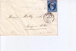 Pli De Cambrai  Pour Inchy En Artois  1864 - Marcophilie (Lettres)