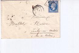 Pli De Cambrai  Pour Inchy  1863 - Marcophilie (Lettres)