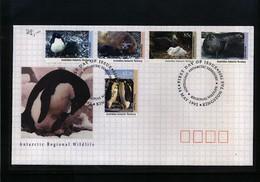 Australian Antarctic Terrritory 1992 Antarctic Willife FDC - Australian Antarctic Territory (AAT)